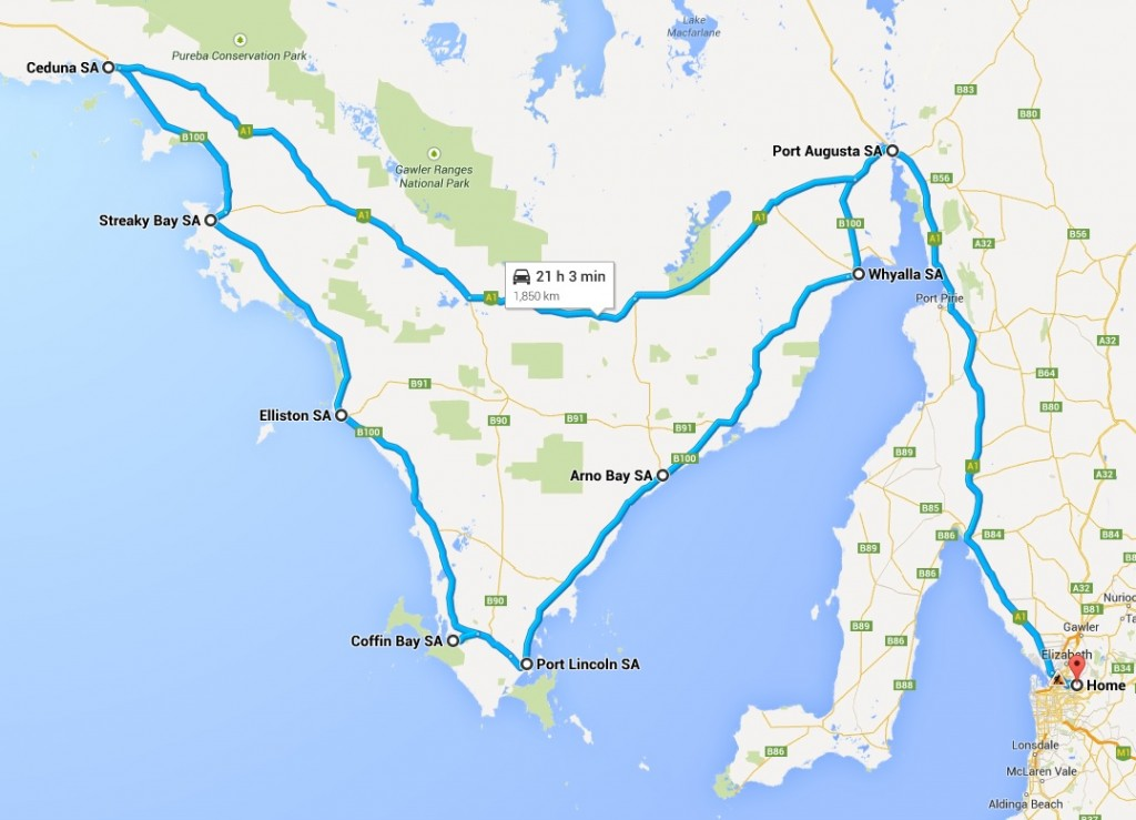 route map - 10-13 Oct 2014