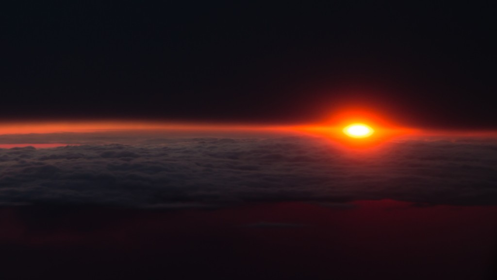 Sunrise at 38,000 feet on way to NZ