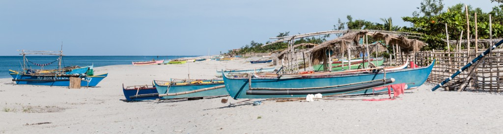Fishing boats in Zambales, Philippines