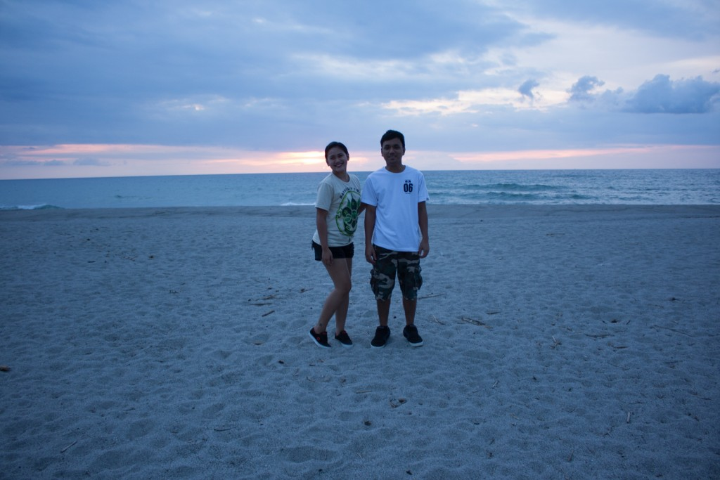 Dianne and Herbert on the beach at Laoag, Zambales, Philippines